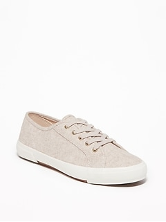 Wool-Blend Lace-Up Sneakers for Women