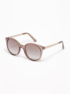Round Translucent Sunglasses for Women