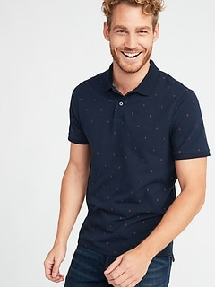 Printed Built-In Flex Pro Polo for Men