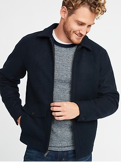 Soft-Brushed Zip Jacket for Men