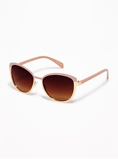 Wire-Frame Sunglasses for Women