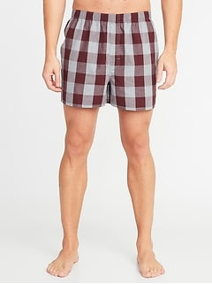 Plaid Soft-Washed Boxers for Men