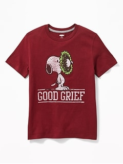 "Peanuts&#174 Snoopy ""Good Grief"" Christmas Tee for Boys"