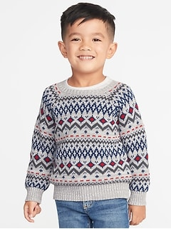 Fair Isle Sweater for Toddler Boys