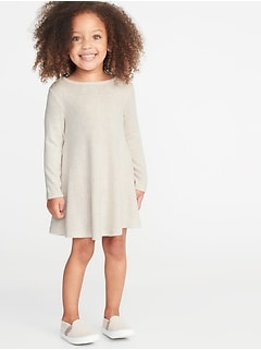 Cozy Stretch Swing Dress for Toddler Girls