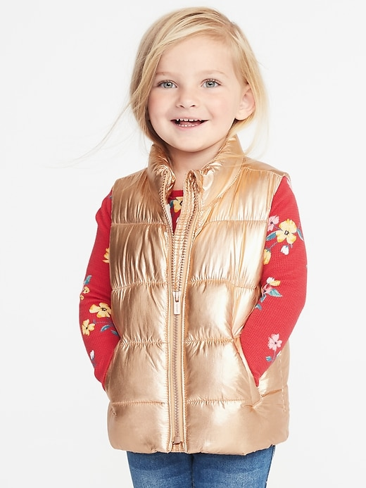 Old Navy Frost-Free Metallic Vest for Toddler Girls $20