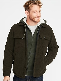 Sherpa Shirt Jacket for Men