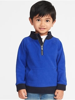 Micro Fleece 1/2-Zip Pullover for Toddler Boys
