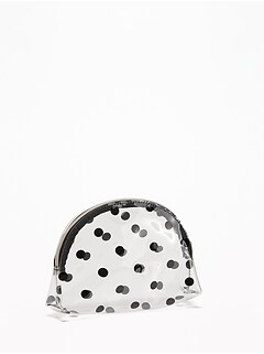Clear Polka-Dot Cosmetic Bag for Women