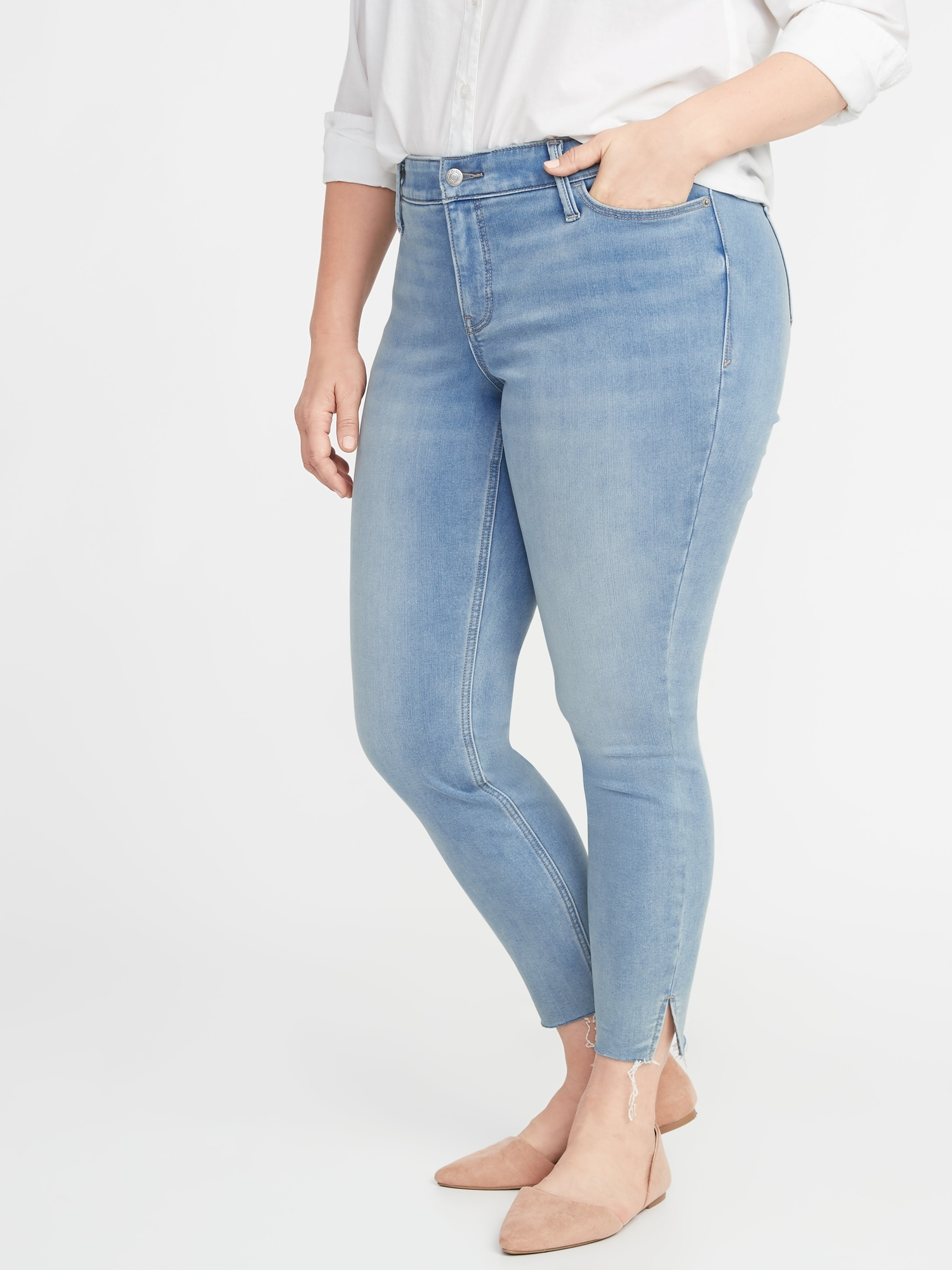 7b6d5d93ed0120 High-Rise Secret-Slim Pockets + Waistband Built-In Warm Rockstar Super  Skinny Plus-Size Jeans | Old Navy