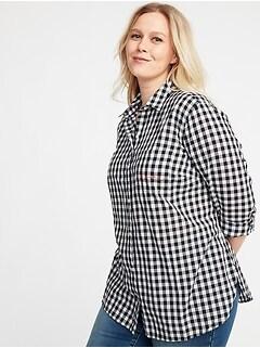 Classic No-Peek Plus-Size Shirt