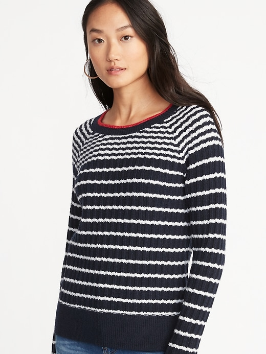 Rib-Knit Sweater for Women