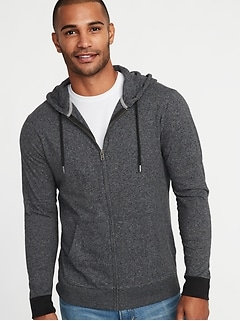 Lightweight Jersey Zip Hoodie for Men
