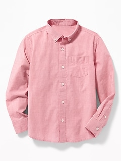 Built-In Flex Poplin Shirt for Boys