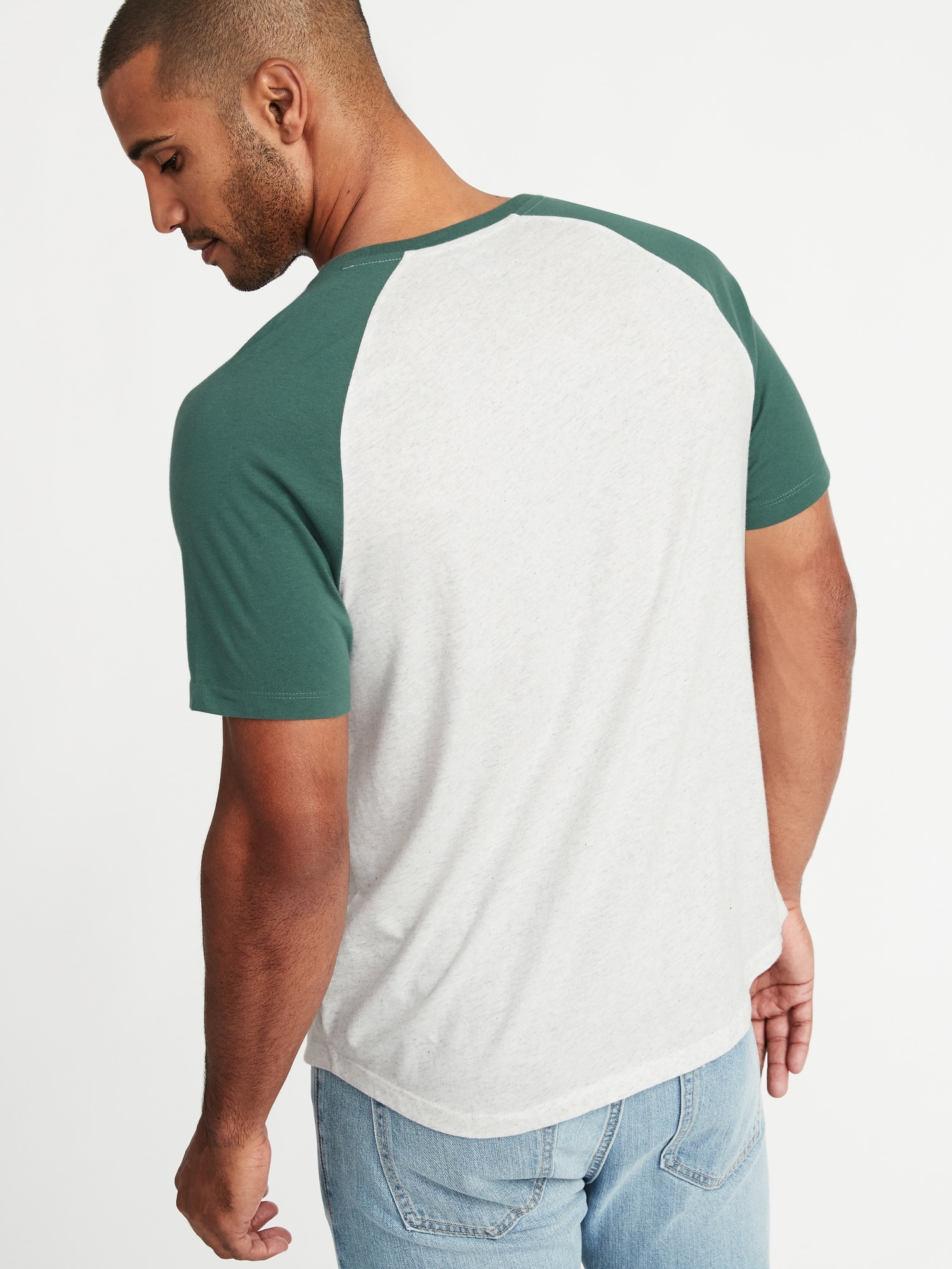 53e533a310b Soft-Washed Color-Block Raglan Tee for Men ...