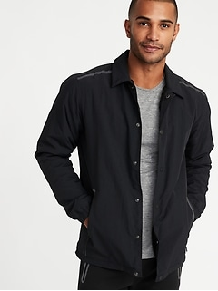 Go-H20 Water-Resistant Sherpa-Lined Coach's Jacket for Men