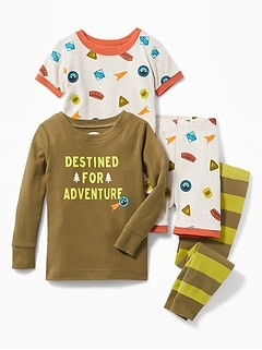 """Destined for Adventure"" 4-Piece Sleep Set for Toddler & Baby"