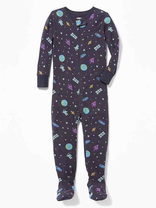 Space-Print Footed Sleeper For Toddler & Baby