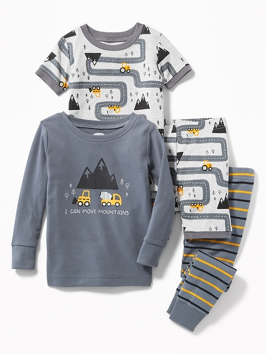 Construction Graphic 4 Piece Sleep Set For Toddler & Baby by Old Navy