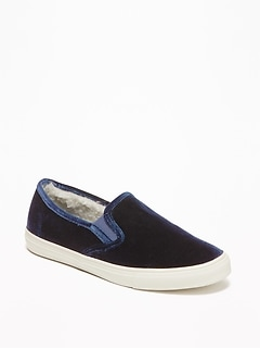Velvet Slip-Ons for Women