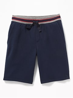 Rib-Knit Waist Jogger Shorts for Boys