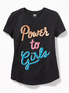Foil Graphic Tee for Girls