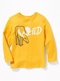 Graphic Long-Sleeve Tee for Toddler Boys