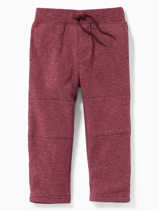 Rib-Waist Reinforced-Knee Joggers for Toddler Boy