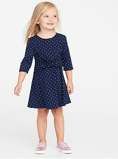 Printed Tie-Waist Dress for Toddler Girls