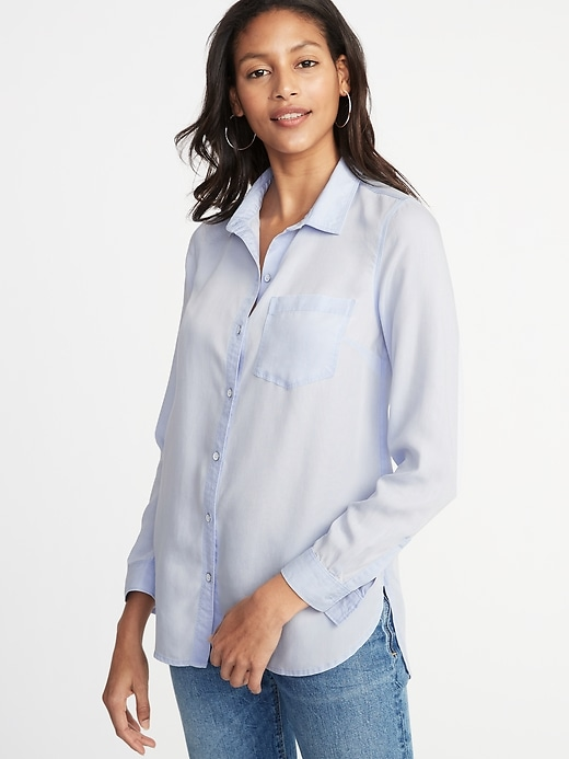 Relaxed Tencel&#174 Shirt for Women