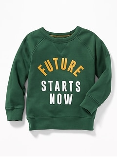 Graphic Crew-Neck Raglan Sweatshirt for Toddler Boys