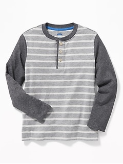 Color-Blocked  Henley for Boys