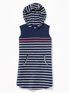 Sleeveless Hooded Swim Cover-Up for Girls