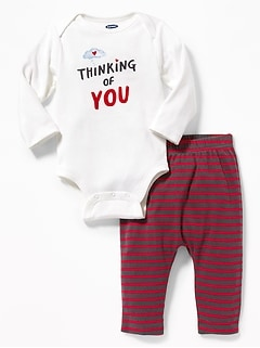 2-Piece Graphic Bodysuit & Leggings Set for Baby