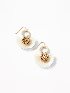 Fan Tassel Drop Earrings for Women