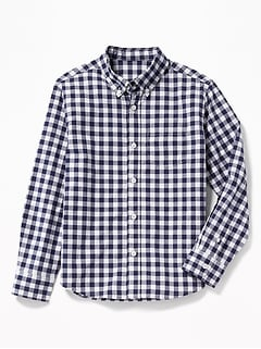 Check-Pattern Built-In Flex Shirt for Boys