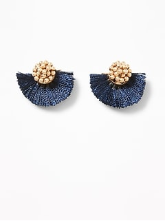 Fan Tassel Stud Earrings for Women