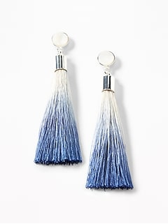 Ombré-Tassel Drop Earrings for Women