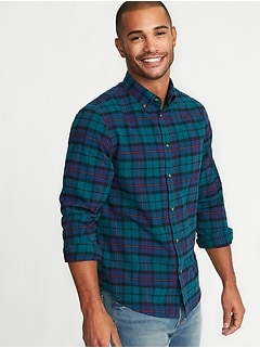Regular-Fit Built-In Flex Everyday Oxford Shirt for Men