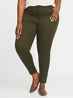 High-Waisted Secret-Slim Pockets Plus-Size Rockstar Super Skinny Sateen Jeans