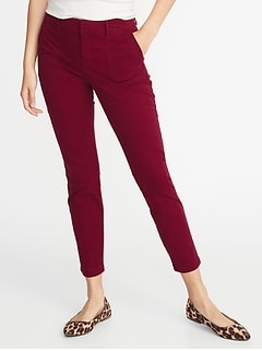 Mid-Rise Pixie Utility Chinos for Women
