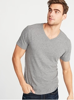 4f96e1b13df4 Soft-Washed Heathered V-Neck Tee for Men