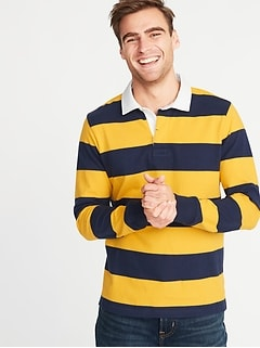 Striped Thick-Knit Jersey Rugby for Men