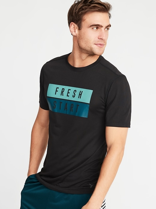 Go-Dry Graphic Performance Tee for Men