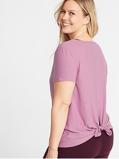 Tie-Back Plus-Size Performance Tee