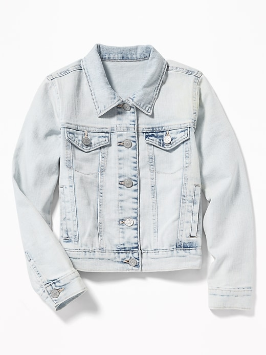Acid Wash Denim Jacket For Girls by Old Navy