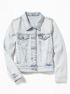 Acid-Wash Denim Jacket for Girls