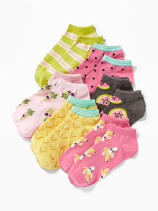 Fashion Ankle Socks 6 Pack For Girls by Old Navy