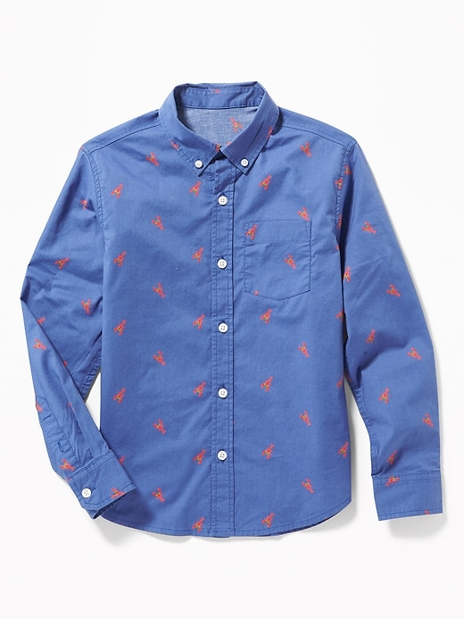 Built In Flex Classic Lobster Print Shirt For Boys by Old Navy