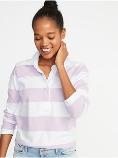 Rugby-Stripe Polo for Women